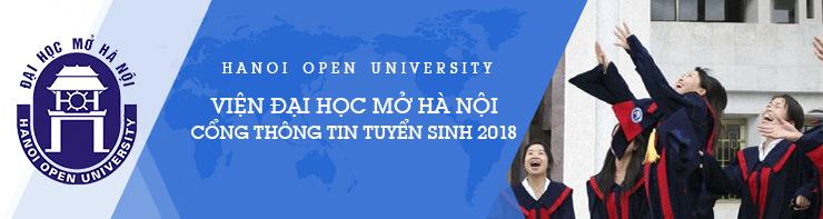 Tuyển đại học chính quy vào Viện ĐH Mở HN năm 2018